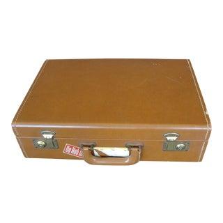 "Vintage 17"" Brown Leather Briefcase"