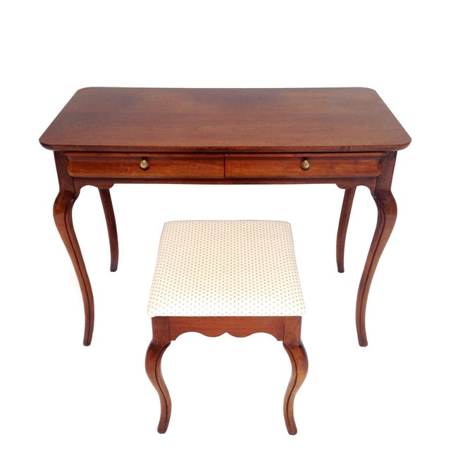 French Style Vanity Hall Table with Stool Set - Image 1 of 6