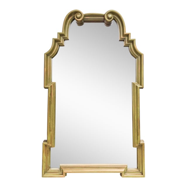 Vintage LaBarge-Style Scroll Arch Mirror - Image 1 of 7