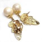 Image of Pearl Drop Butterfly Earrings