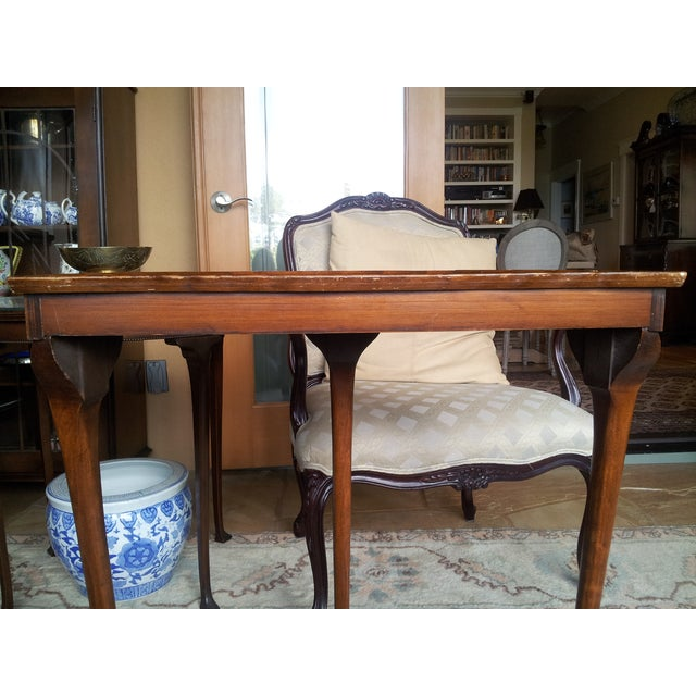 19th Century Cherry Wood Demilune Table - Image 5 of 6