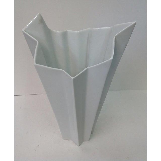 Hutschenreuther White Op Art Vase - Image 5 of 7