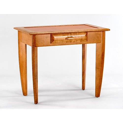 Tiger Maple Leather Top Writing Desk - Image 2 of 4