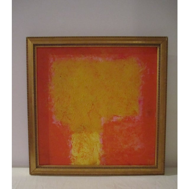 Image of Abstract Painting Paris Signed Framed Acrylic