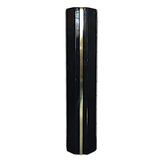 Black and Gold Hollywood Regency Column