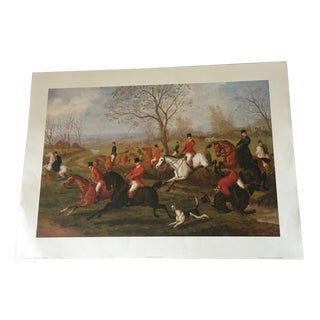 "EB Herberte ""Cross Country"" British Hunting Scene Print"