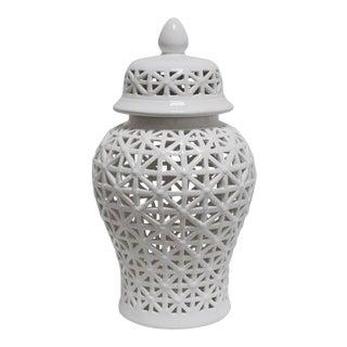 Pierced Ceramic Ginger Jar