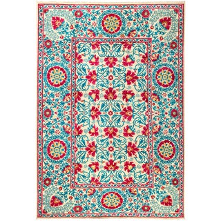 """Suzani Hand Knotted Area Rug - 6'3"""" X 9'1"""""""