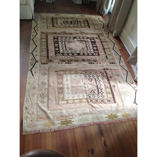 Turkish Kilim Rug - 5′3″ × 8′9″ - Image 2 of 6