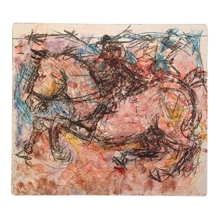 Expressionism Equus Wild Horse Drawing