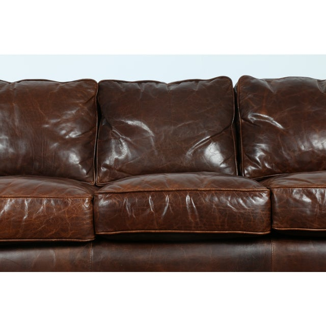 Restoration Hardware Leather : Restoration hardware leather sofa chairish