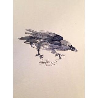 Black Crow Watercolor