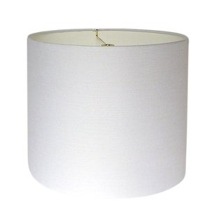 Custom White Linen Drum Lamp Shade