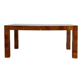Lacquered Tessellated Walnut Dining Table