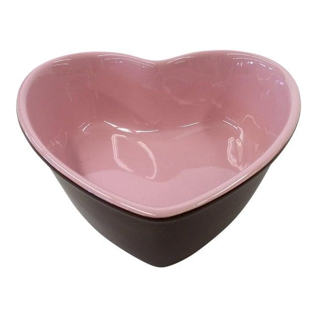 Image of Chantal Pink Ceramic Heart-Shaped Bowl