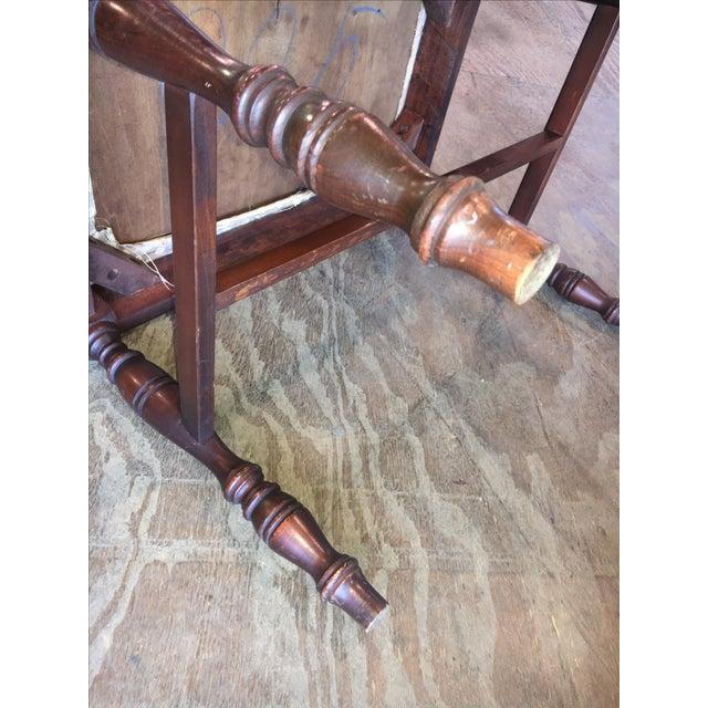 Antique Bedroom Vanity Bench - Image 8 of 9