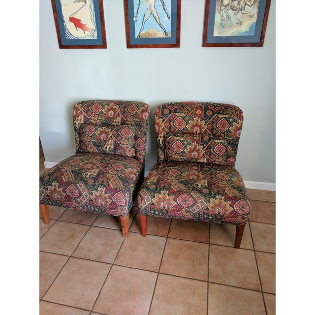 Drexel Heritage Vintage Slipper Chairs - A Pair - Image 5 of 5