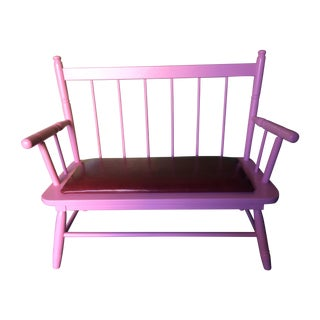 Pink Maple Love Seat or Bench
