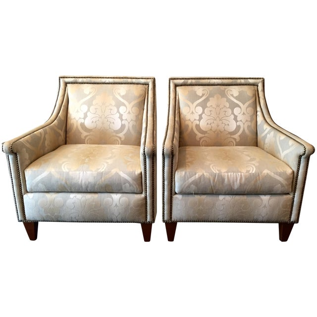 Bernhardt Upholstered Chairs - Pair - Image 1 of 7