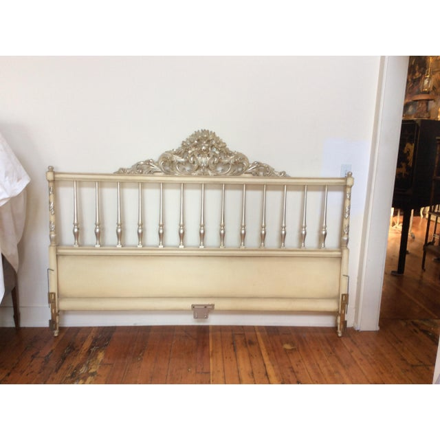 Silvered Accented Carving King Size Headboard - Image 3 of 10