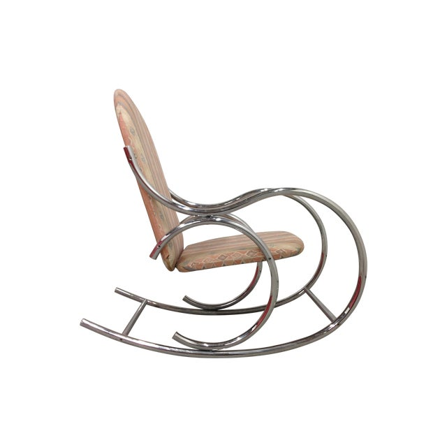 Mid Century Modern Chrome Rocking Chair - Image 1 of 7