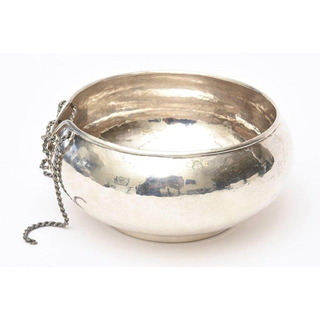 Italian Hand Forged Hallmarked Sterling Silver Corset Bowl - Image 4 of 11