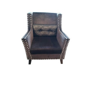 Hermes Embossed Black Ocasssional Chair