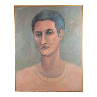 Modernist Portrait Oil Painting on Canvas