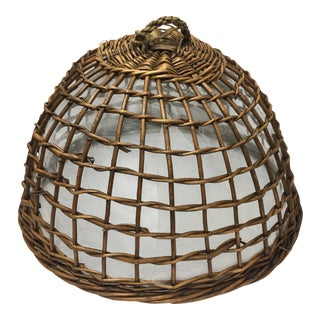 French Natural Wicker Clotche