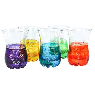 Colorful Moroccan Tea Glasses - Set of 5