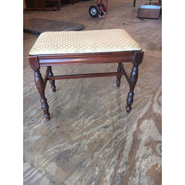 Antique Bedroom Vanity Bench - Image 2 of 9