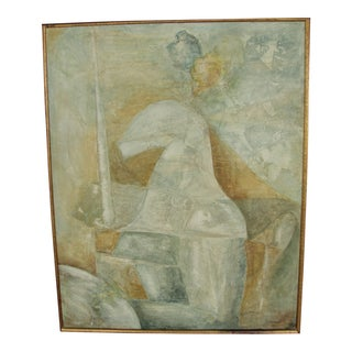 Vintage Cubist Impressionist Knight in Armor