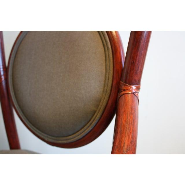 McGuire Orlando Diaz-Azcuy Salon Dining Arm Chair - Image 6 of 8