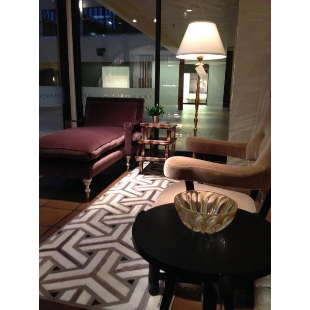 "Truex American Furniture Seppia Velvet ""Pauline Chaise"" - Image 3 of 4"