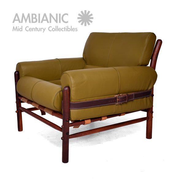 """Arne Norrel """"KONTIKI"""" Pair of Safari Chairs - Image 4 of 11"""
