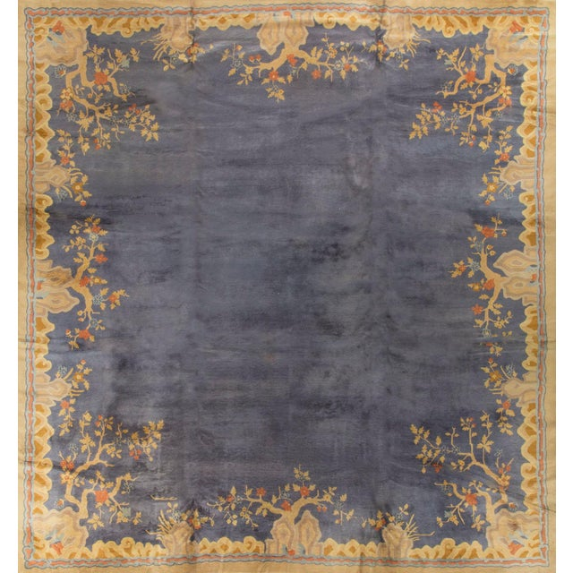 """Vintage Art Deco Chinese Rug - 13'7"""" X 14'3"""" - Image 2 of 4"""