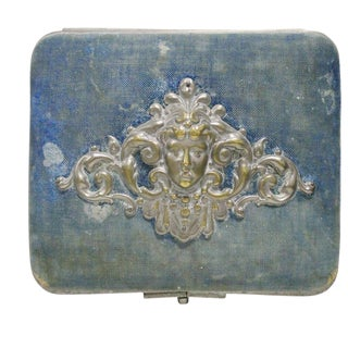 Blue Necklace Box with Cherub