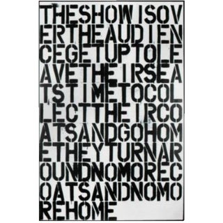 Christopher Wool & Felix Gonzalez-Torres Untitled Lithographic Print