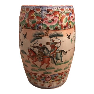 Ceramic Chinoiserie Garden Stool