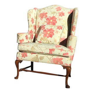 Baker Floral Wingback Chair