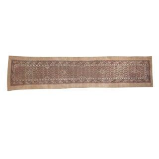 "Antique Camel Hair Serab Rug Runner - 3'5"" x 13'7"""