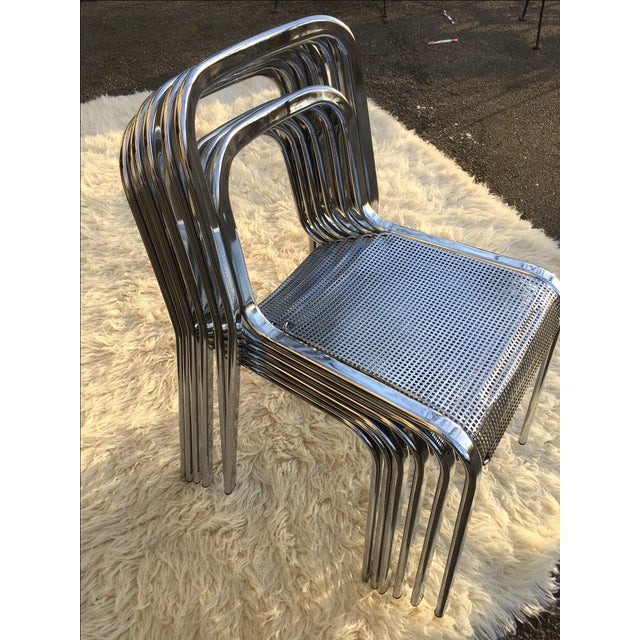 Image of Vintage Chrome Stacking Chairs - 6