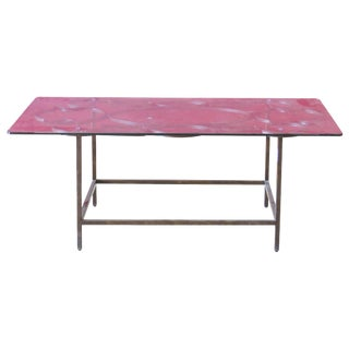 Deco Style Glass Top Coffee Table