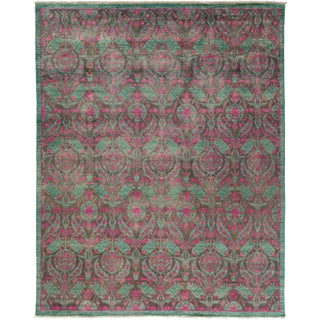 New Suzani Hand-Knotted Rug - 8′10″ × 11′1″