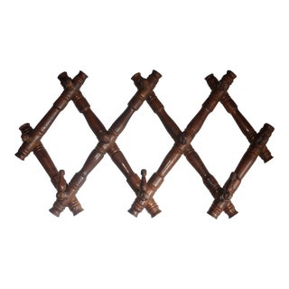 Vintage Faux Bamboo Hat Rack