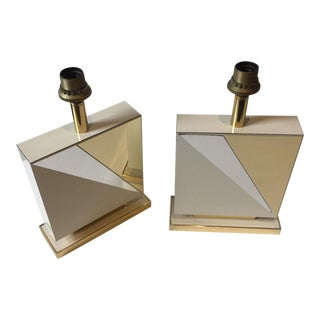 Lacquered and Brass Table Lamps