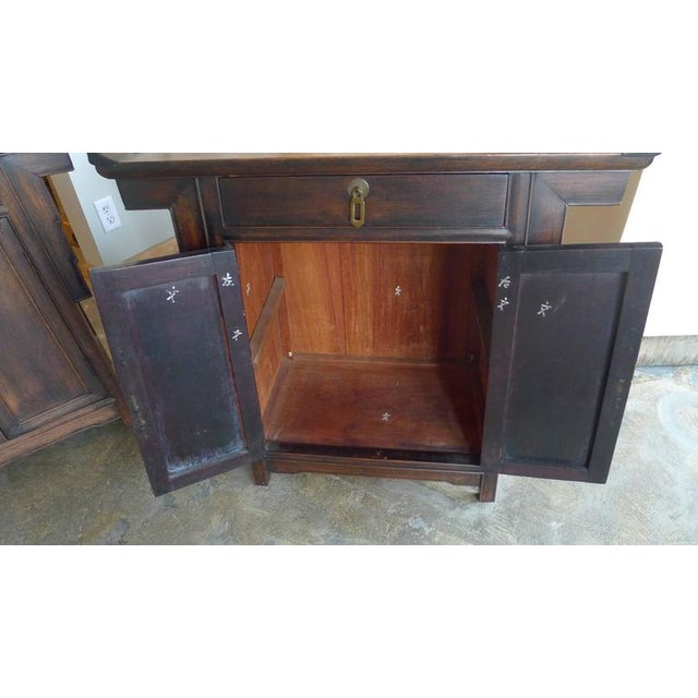 Pair of Wood Chinese Side Cabinets - Image 6 of 9