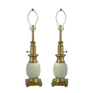 Vintage Stiffel Ostrich Lamps - a Pair