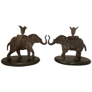 Elephant Candle Holders - A Pair