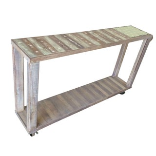 American Flag Distressed Console Table